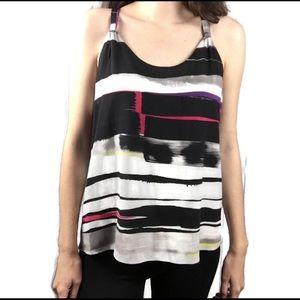 Alice + Olivia Stripe Color Block Multicolor Tank
